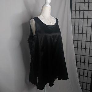 Eileen Fisher Silk Sleeveless Top Black Scoop Neck